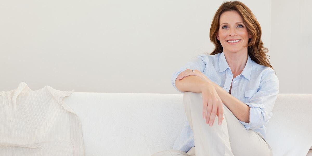 Una splendida donna in post menopausa
